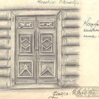 Kaņepu saiešanas nama durvis
