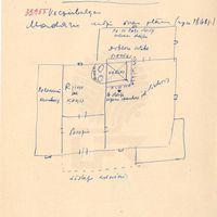 "Plan of ""Madaras"" house in Vecpiebalga"