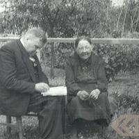 Profesors Jānis Alberts Jansons un teicēja Lība Henzele