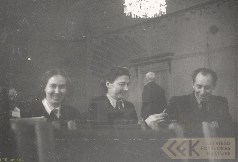 Gaida Kalniņa, Elza Kokare un Zenonas Slaviūnas