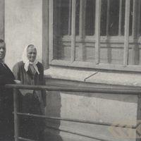 Professor Jānis Alberts Jansons and folk narrator Lība Staņķe