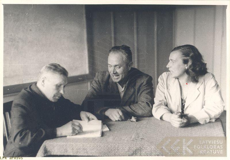 Teicējs Jānis Slēžis un folklorists Jānis Alberts Jansons
