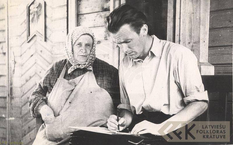 Teicēja Līze Saule un komponists Aldonis Kalniņš