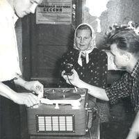 Stepanija Janičonoka dzied magnetofonā
