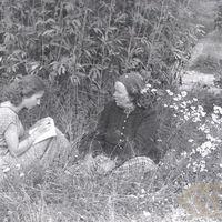 Studente Māra Grava un teicēja Jūlija Platpīre