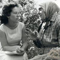 Studente Rita Bebre un teicēja Zuzanna Ignotāne