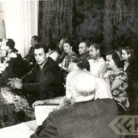 Izbraukuma zinātniskās sesijas prezidijs Preiļos