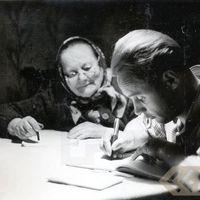 Folklorists Jānis Rozenbergs un teicēja Katrīna Čirkše