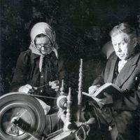 Profesors Jānis Alberts Jansons un teicēja Margrietas Šleseres