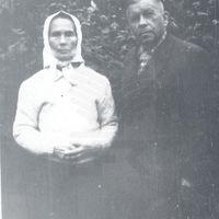 Teicēja Anna Cinkus un profesors Jānis Alberts Jansons