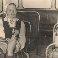 Folklore informant Marija Dzeguze singing