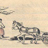 Ilustrācija teikai par Jēkaupiņu apkārtni