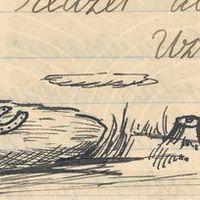 Ilustrācija teikai par Jēkaupiņu akmeni