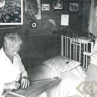 Komponists Artūrs Salaks un folklorists Jānis Rozenbergs
