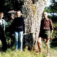 Pauls Krasons ar dēlu un meitu