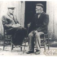 Local historian Jānis Kučers and folklore informant Pēteris Āmurs