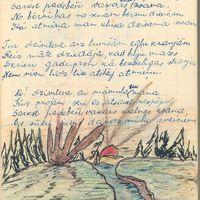 Skolēna dziesmu un dzejoļu grāmatas ilustrācijas