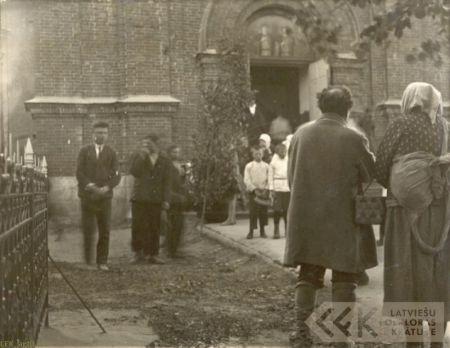 Beggars' song near Orthodox churc in Augstpils parish