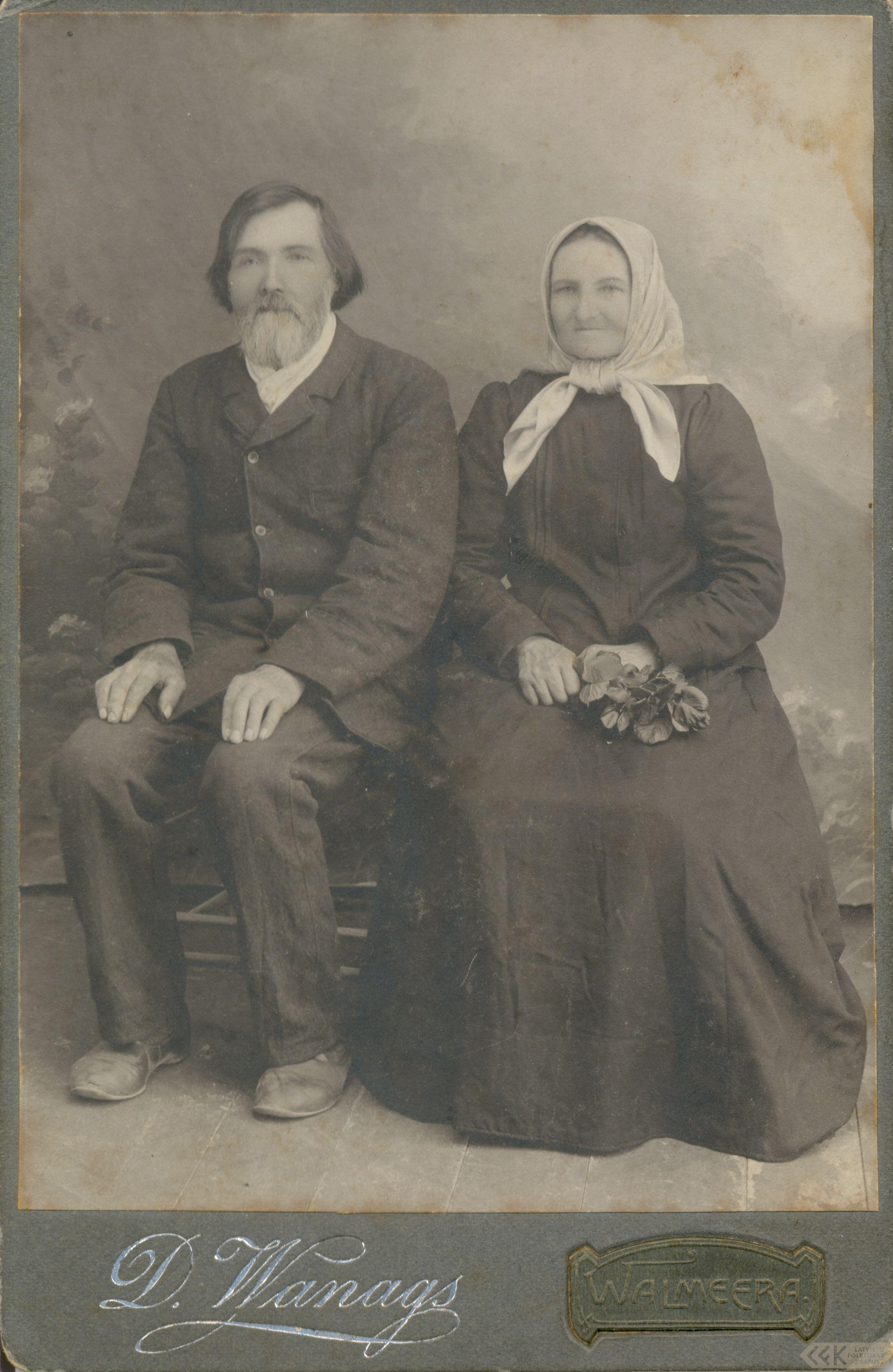 Ādams Purmalis ar sievu Zapu