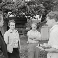 Folkloristi Karmena Banga, Jānis Rozenbergs un Kārlis Arājs