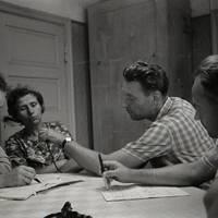 Ekspedīcijas dalībnieki Karmena Banga, Laimdots Ceplītis, Jānis Rozenbergs un teicēja Anna Deruma