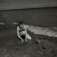 Ekspedīcijas dalībnieks Peipusa ezera krastā