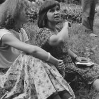 Folklorists Baiba Krogzeme and Māra Vīksna