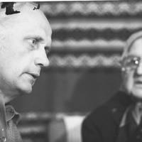 Folklorists Jānis Rozenbergs un teicēja Marcianna Dārzniece