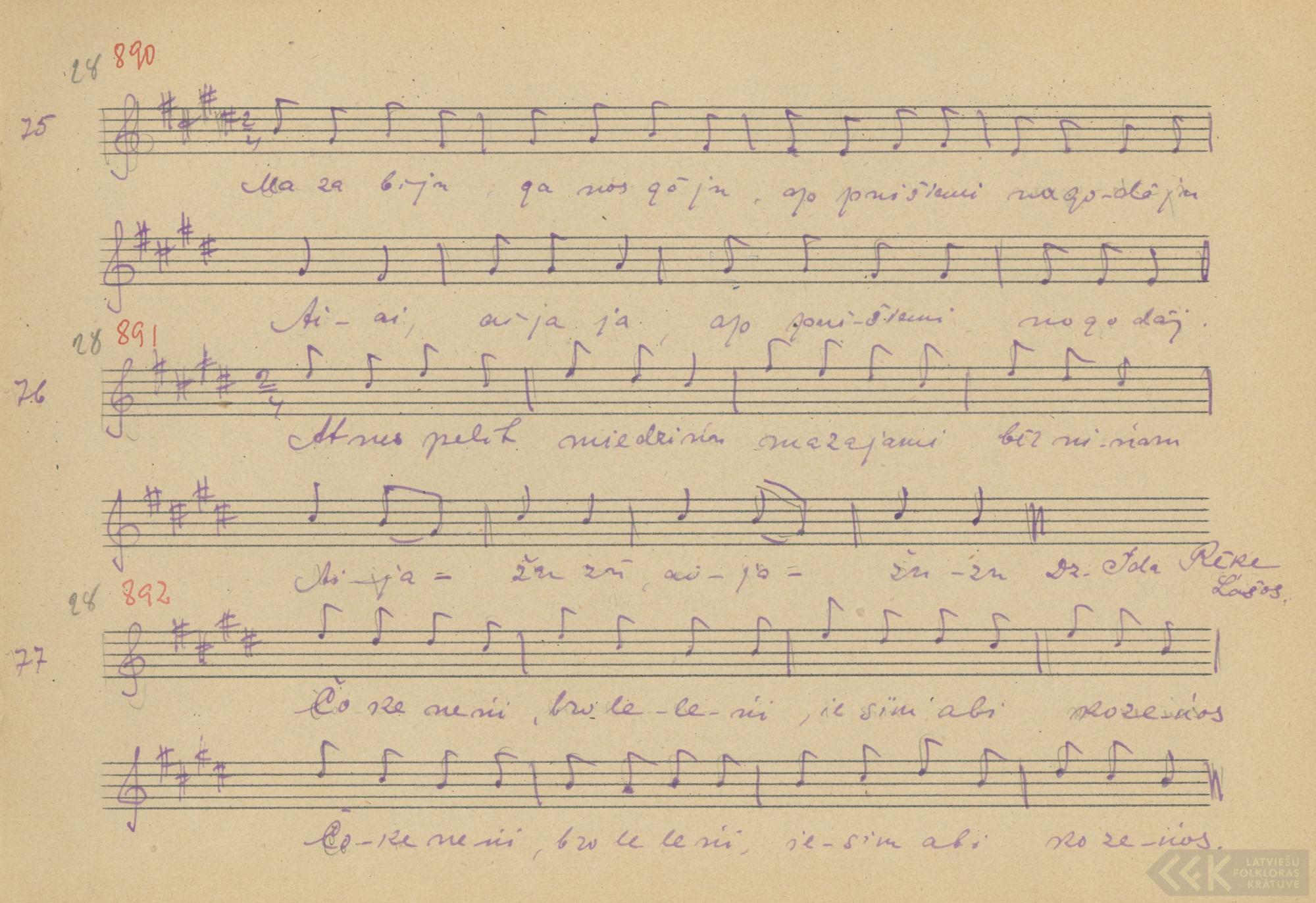 Čokoneni bruoleleni, īsim obi kuozeņuos (1927)