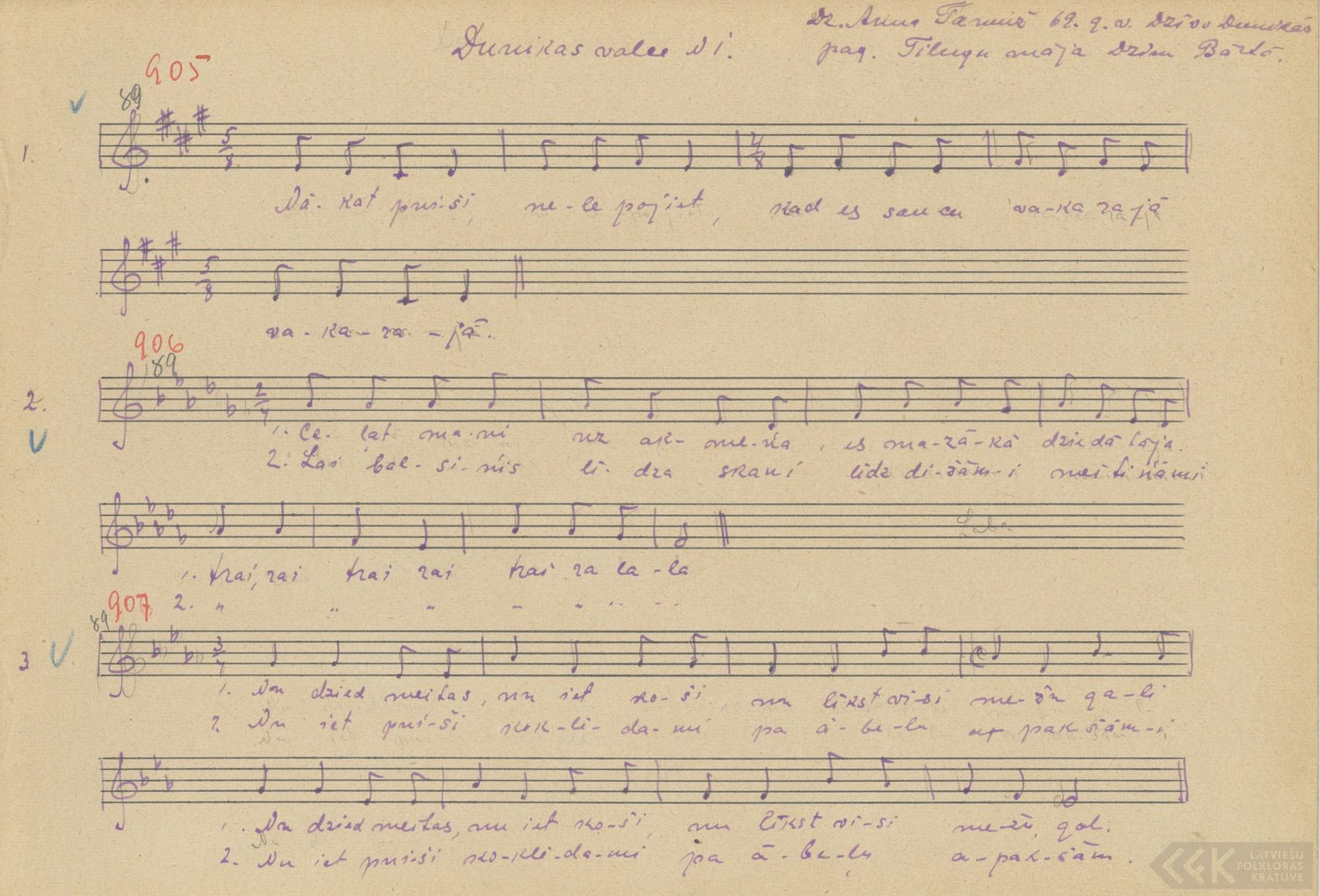 Nu dzied meitas, nu iet koši (1927)