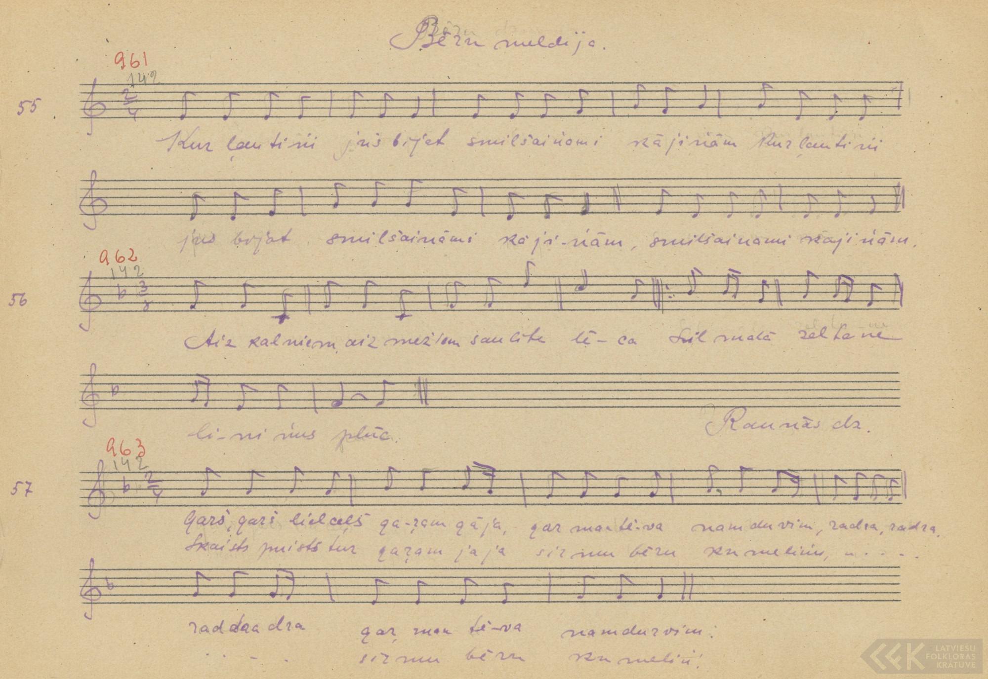 Bēru dziesma (1927)