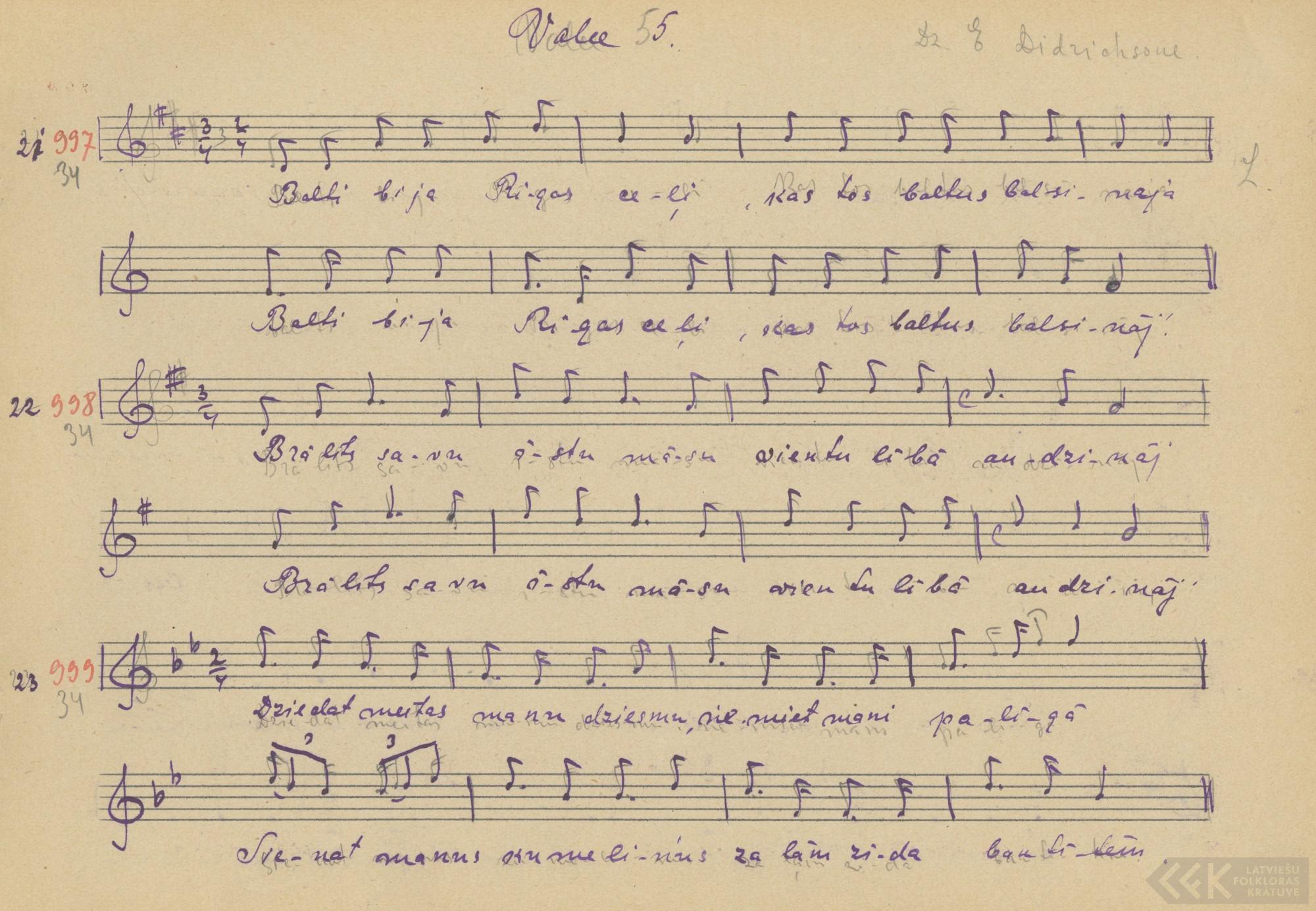 Dziedat, meitas, manu dziesmu (1927)