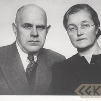 Jānis Dāvis ar sievu Paulīni