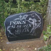 Alberta un Milijas Poku kapa vieta