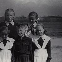 Silvija Priedniece bērnībā