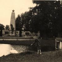 Silvija Priedniece with a swan