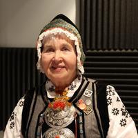 Nīcas etnogrāfiskā ansambļa dalībniece Olga Bēta