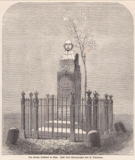 J.G. Herdera piemineklis Rīgā.