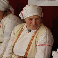 Upītes etnogrāfiskā ansambļa dalībniece Valentīna Keiša