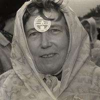 Silvija Priedniece protesta akcijā