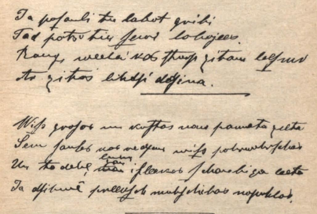 Kārļa Veidenbauma rokraksts