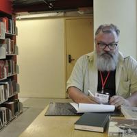 Ojārs Lāms Stenforda Universitātes bibliotēkā