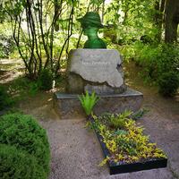 Piemineklis Jānim Ziemeļniekam Otrajos Meža kapos