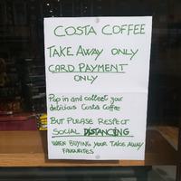 Paziņojums kafejnīcā