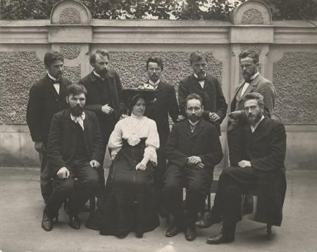 """""""Dzelmes"""" grupas rakstnieki 1906. gadā"""