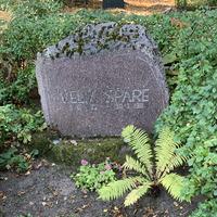 Veltas Spāres kapa piemineklis Raiņa kapos