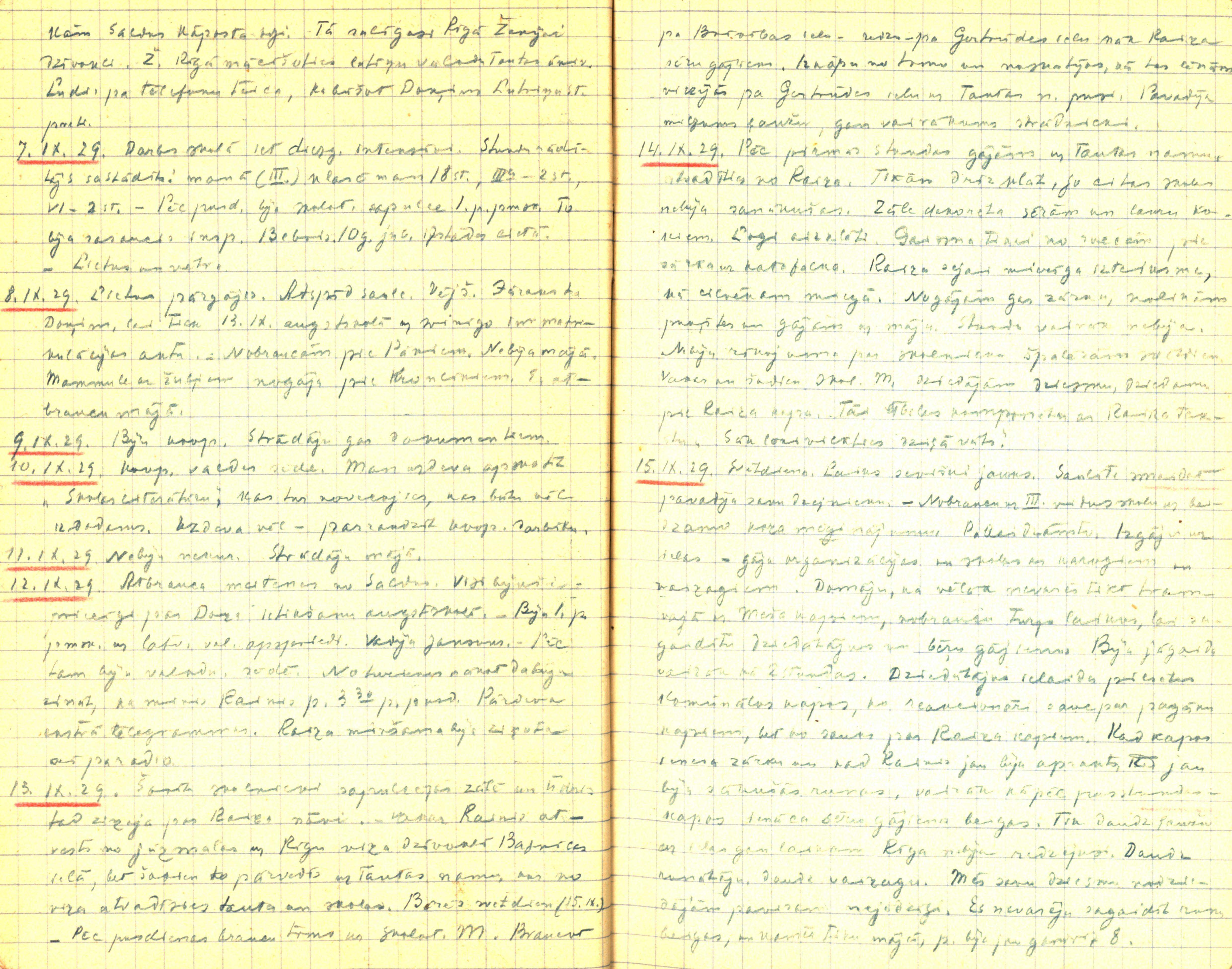 Alvila Kalnieša (Klēbaha) dienasgrāmatas fragments