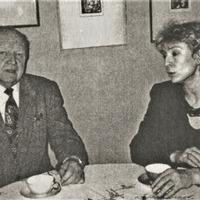 O. Celle un A. Konste Aleksandra Čaka memoriālajā dzīvoklī – muzejā