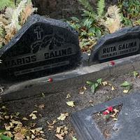Harija Gāliņa kapa piemineklis
