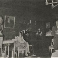 Guna Ikona un Edgars Krūmiņš J. Akuratera muzejā